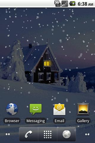 Snowfall Pro Live Wallpaper - screenshot