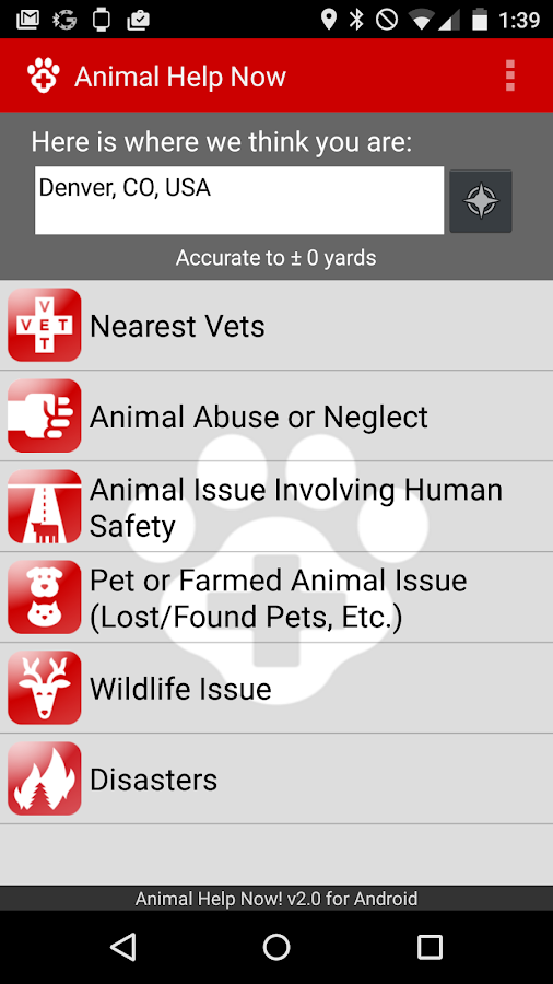 Animal Help Now- screenshot