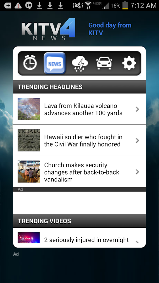 Alarm Clock KITV 4 Honolulu- screenshot