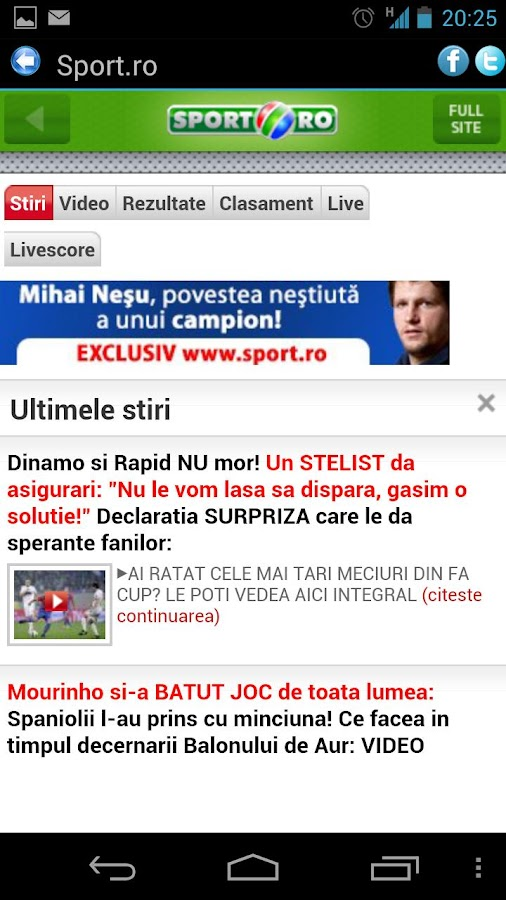 Sport Romania - screenshot