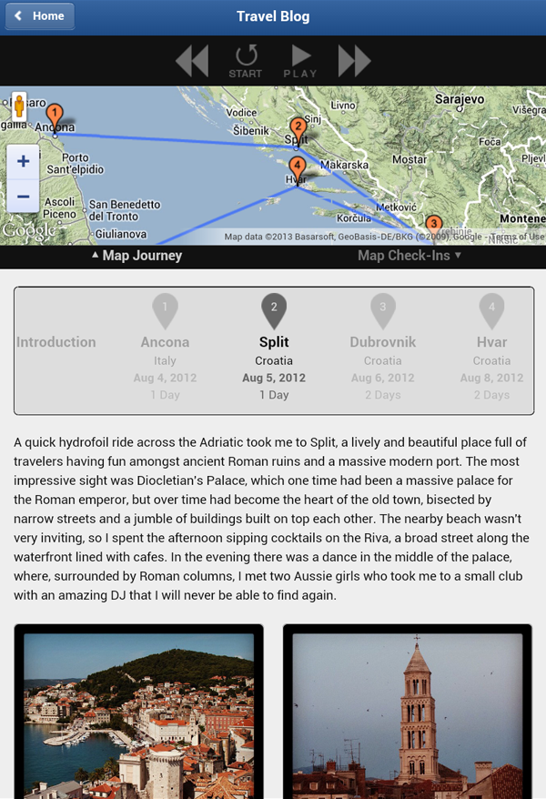 Jauntlet Travel Blog & Map - screenshot