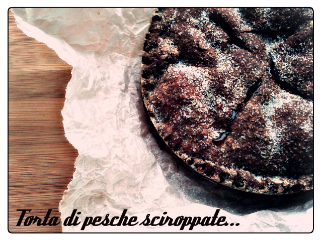 Chocolate Pie Crust with a Peach Filling Recipe