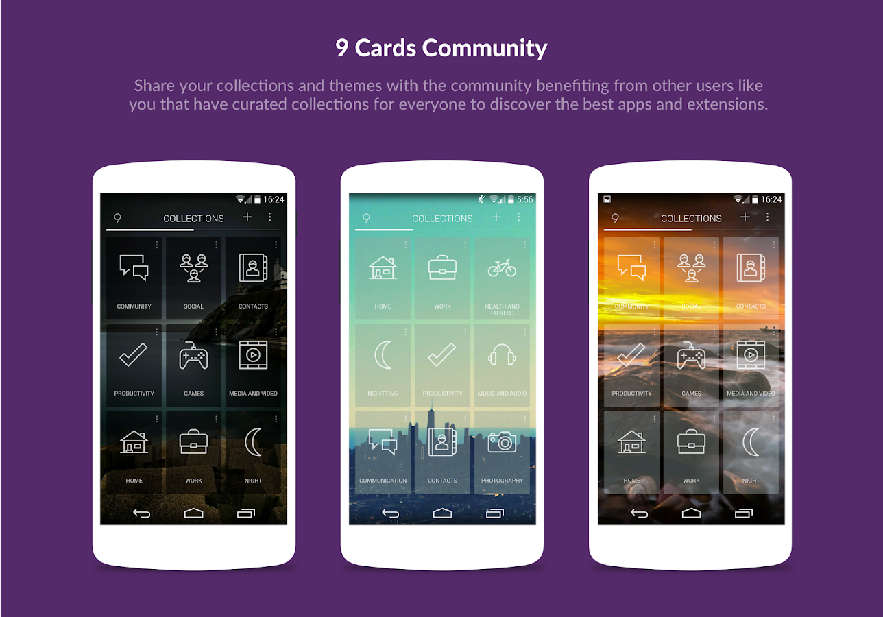 9 Cards Home Launcher- screenshot