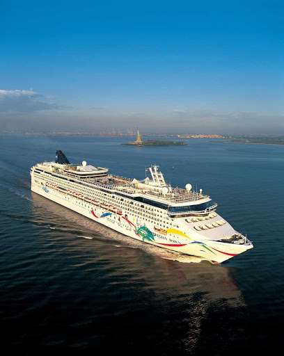 Norwegian-Dawn-Aerial -  Norwegian Dawn offers a wide range of dining options, entertainment, ocean views and fun activities.