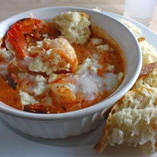 Garides Saganaki (Shrimp Saganaki).