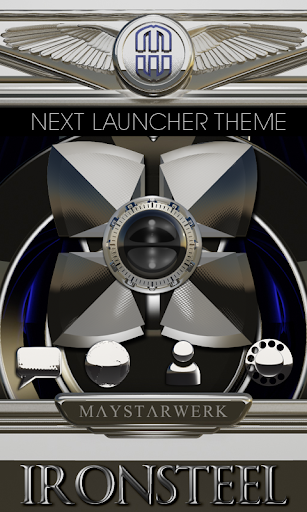 Next Launcher Theme Iron Steel