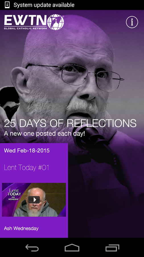 EWTN:  Lenten Reflections 2015- screenshot