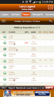ESPN Fantasy Basketball - screenshot thumbnail