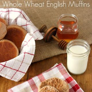 Pumpkin Spice Whole Wheat English Muffins
