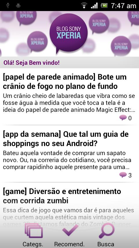Blog Sony Xperia- screenshot