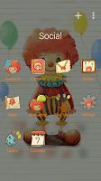 Screenshot of (FREE) Clown GO Launcher Theme
