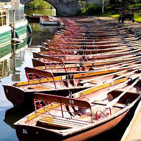 Boats in Stratford-upon-Avon by Zoot The-Tog - Transportation Boats ( water, stratford, sunlight, boat, river )