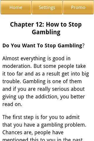 Overcoming Gambling Addiction- screenshot