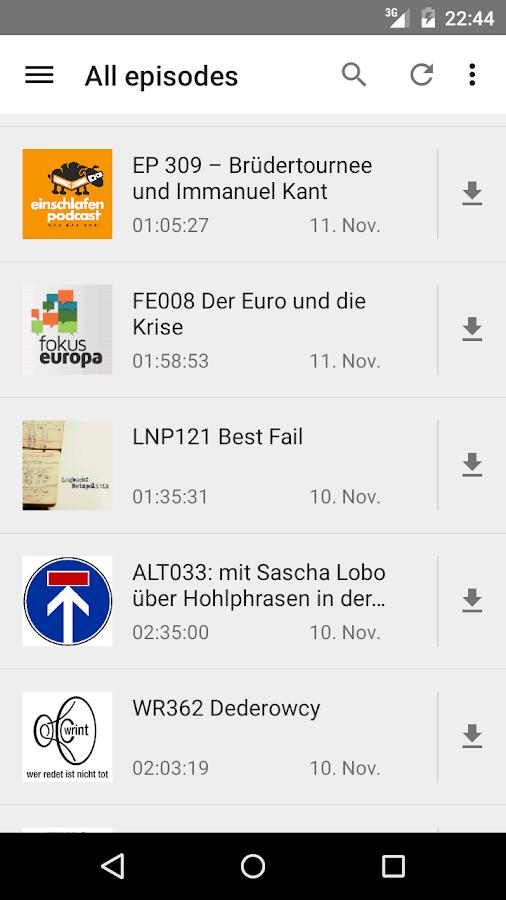 AntennaPod – Screenshot