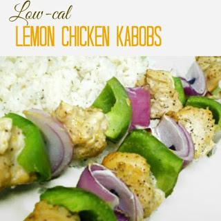Low Fat Lemon Chicken Kabobs.