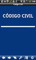Screenshot of Chile Civil Code