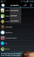 Screenshot of AppSyncer