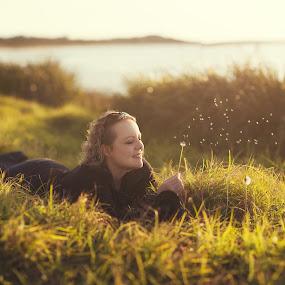 by Chris Gonzalez - People Portraits of Women ( dandelion, woman, faeries, light )