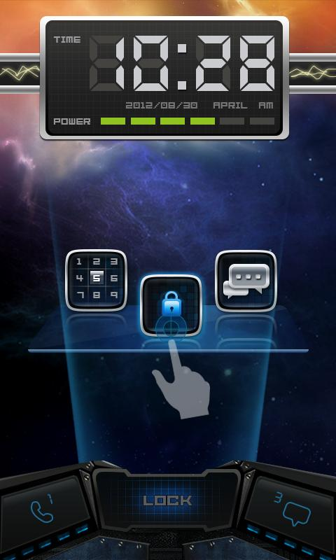 Nebul GO Locker Theme - screenshot