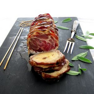 Pressure Cooker Pork Roast with Apples, Coppa and Sage.
