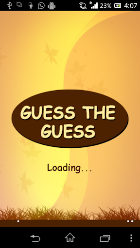Guess The Guess Game