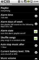 Screenshot of Playlist Alarm