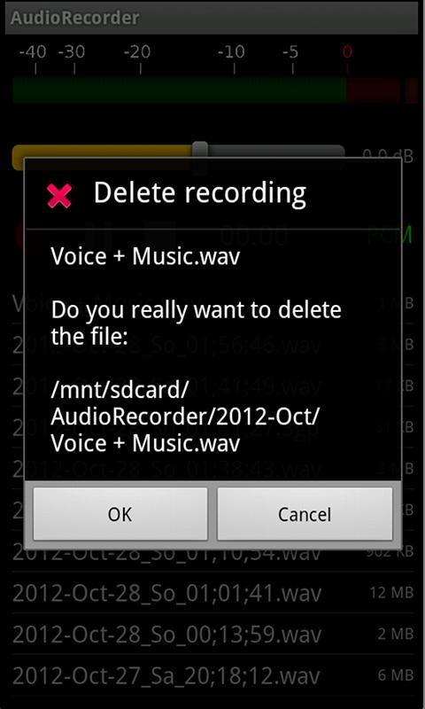 AudioRecorder - screenshot