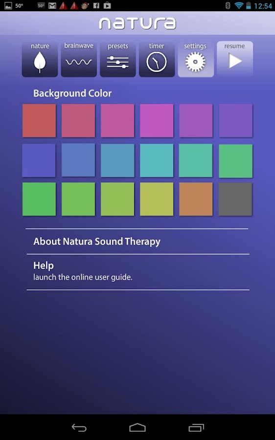 Natura Sound Therapy - screenshot