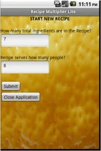 The Recipe Multiplier Lite - screenshot thumbnail