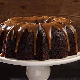 Guinness Gingerbread Bundt Cake with Salty Caramel Drizzle