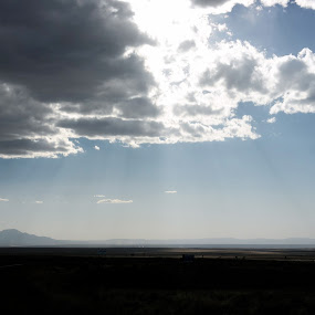 One day,... by Dawnadine Yazzie-Harvey - Landscapes Cloud Formations ( mountain, sky, blue, distant, cloud, beauty, earth )