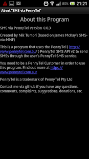 SMS-via-PennyTel- screenshot thumbnail