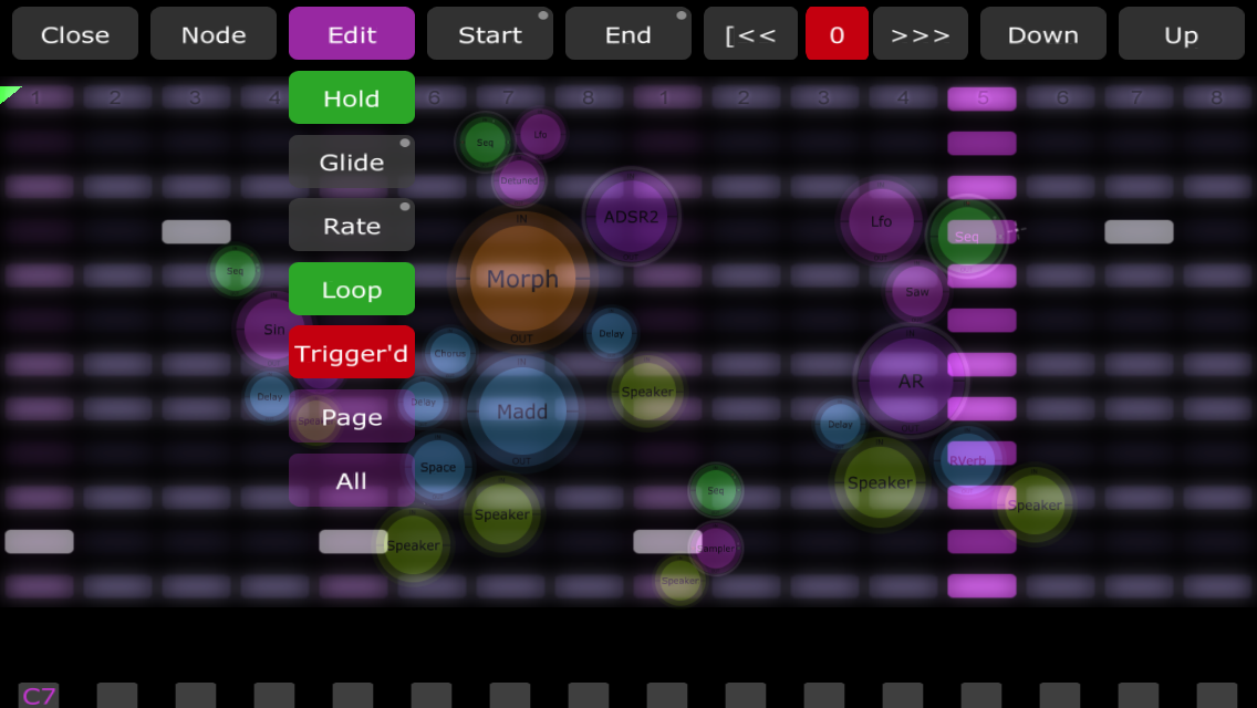 Jasuto modular synthesizer- screenshot