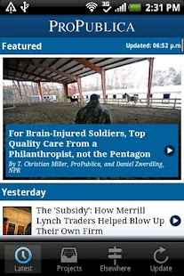 ProPublica - screenshot thumbnail