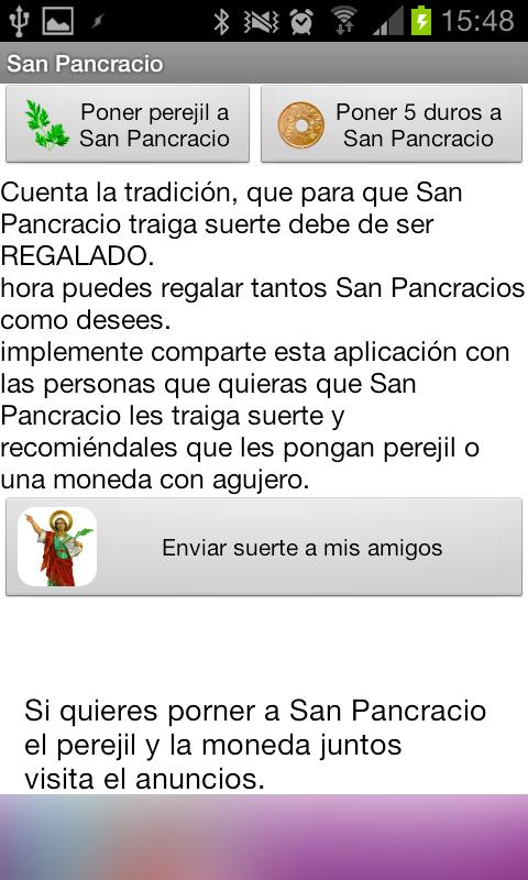San Pancracio Widget - screenshot