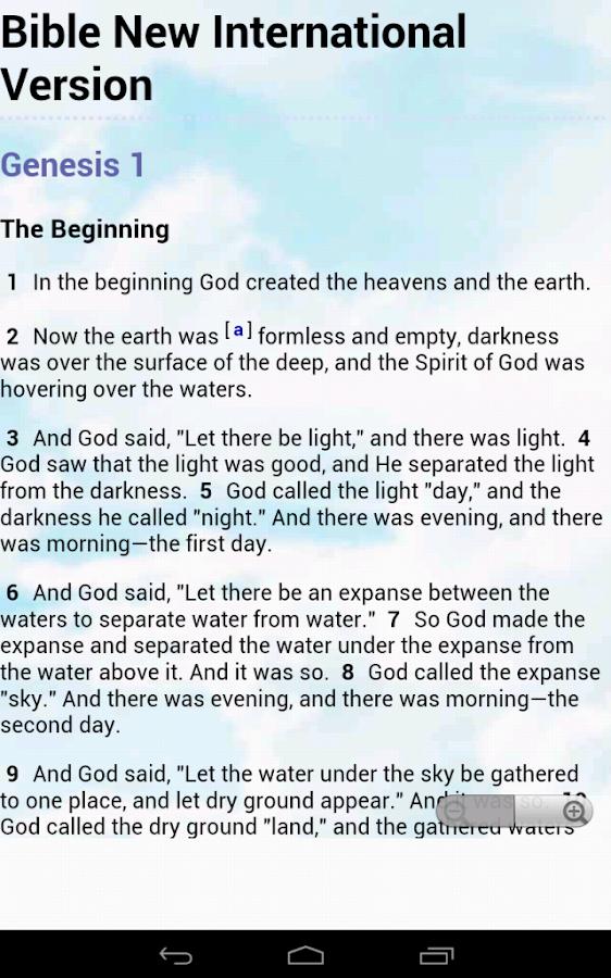 Bible NIV New Intl. Version - screenshot