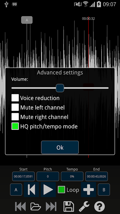Audio Speed Changer Pro- screenshot