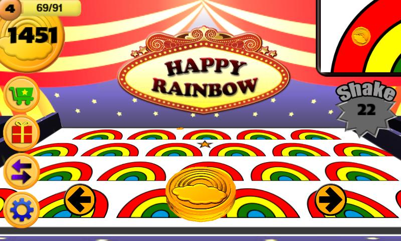 Happy Rainbow (Coin Pitch) - screenshot