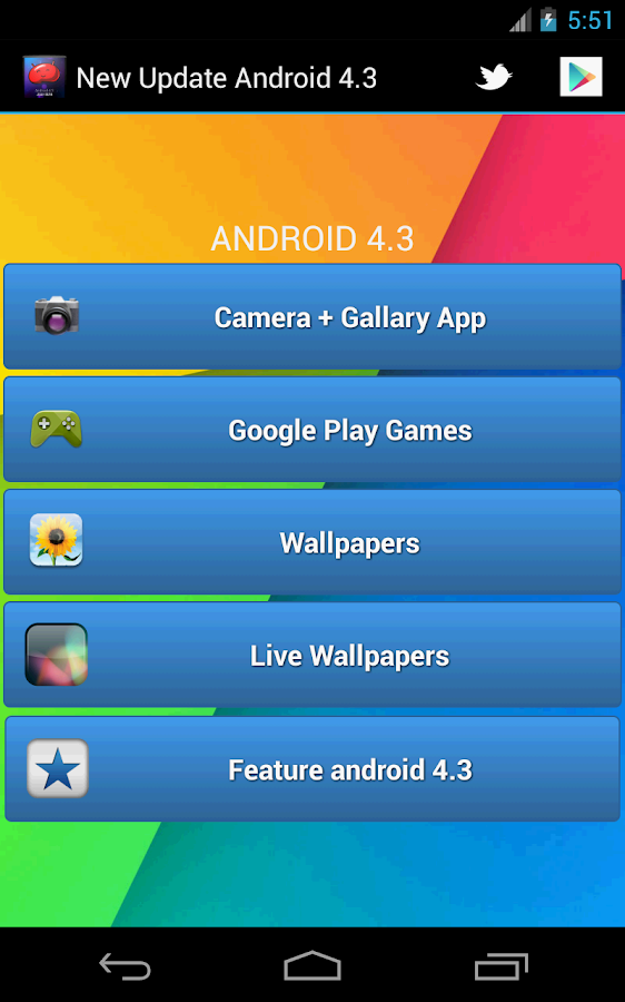 Android 4.3 - screenshot