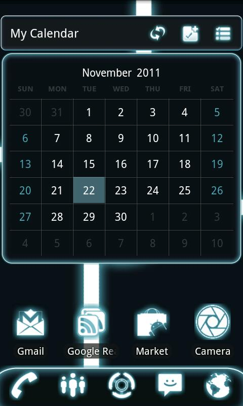 GOWidget Theme - Glow Legacy - screenshot