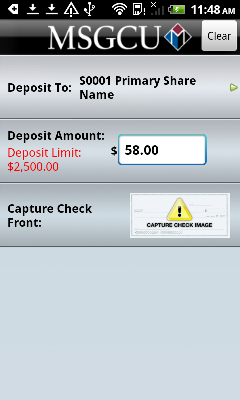 MSGCU Mobile Banking- screenshot