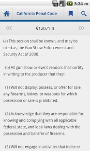 California Penal Code - screenshot thumbnail