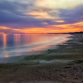 Thursdays Dawn by James Gramm - Landscapes Sunsets & Sunrises ( water, sand, sky, bay, long exposure, ocean, sunrise, beach )