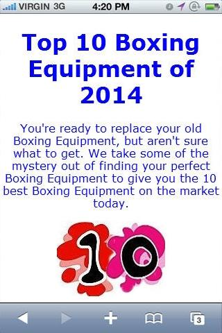 Boxing Equipment Reviews