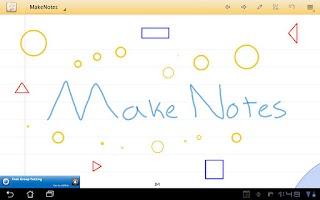 Screenshot of MakeNotes (beta)