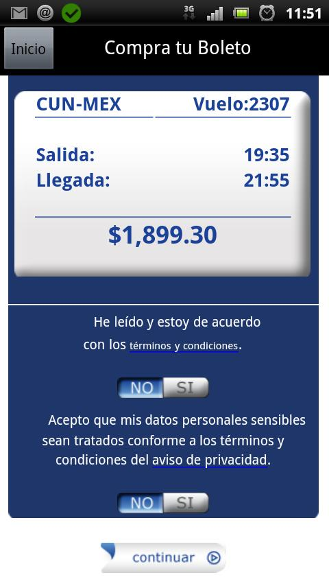 Interjet - screenshot