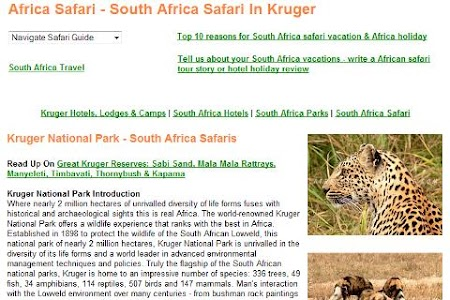 South Africa Safari Tour Guide screenshot 1