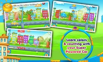 Screenshot of Rainbow Cars! Kids Colors Game