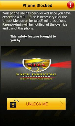 Anti Texting Safe Driving App.