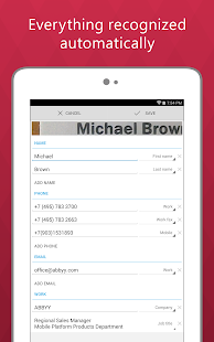Business Card Reader Pro - screenshot thumbnail